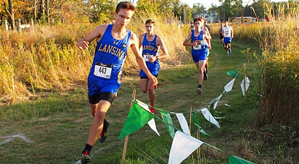 xc Lansing seniors Zoltan Csaki and Liam Hulsebosch along with xc Lansings Jack Thomas
