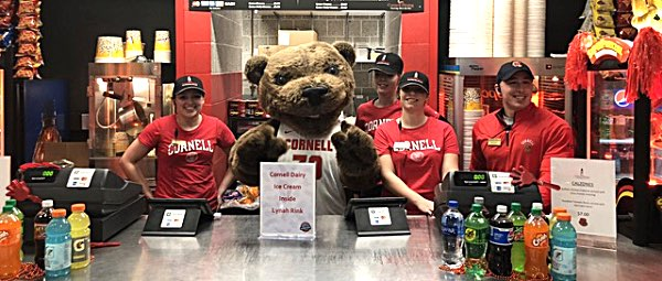 cornell Touchdown the Bear at Cornell Concessions in Bartels Hall