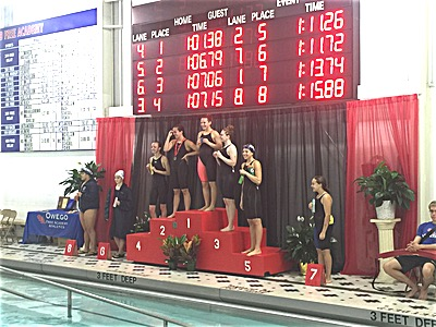 swim 2015 Clas C Sectionals 100 Butterfly Champion Katie Weaver