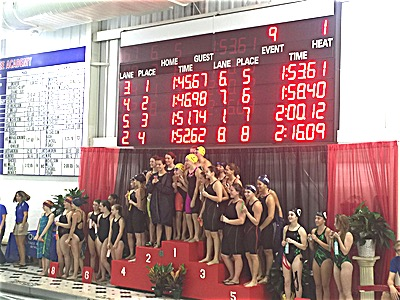 swim 2015 Clas C Sectionals 200 Free Relay Champions