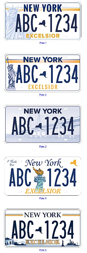 New York License Plate Design Choices
