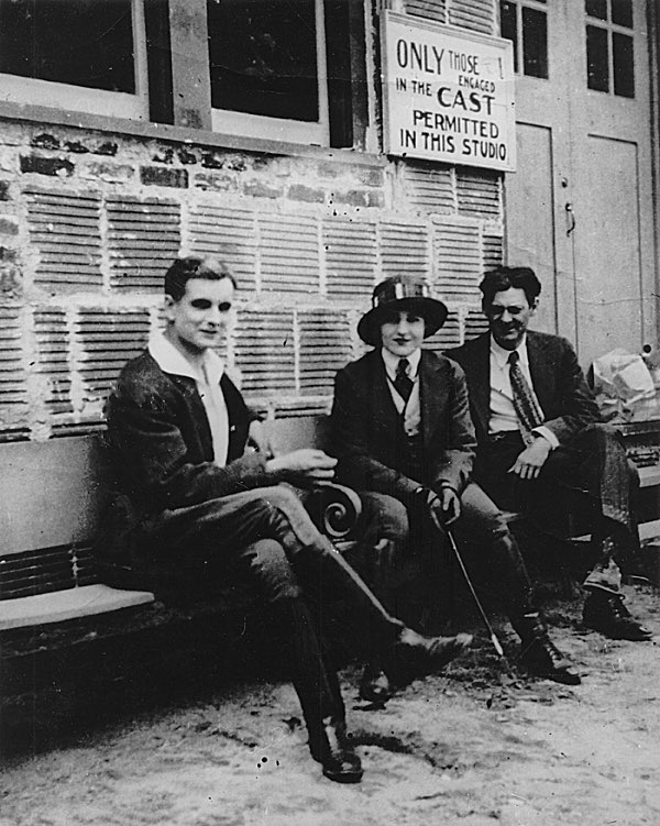 Creighton Hale, Pearl White, and Lionel Barrymore