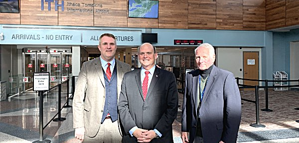 Reed Visits Ithaca Airport